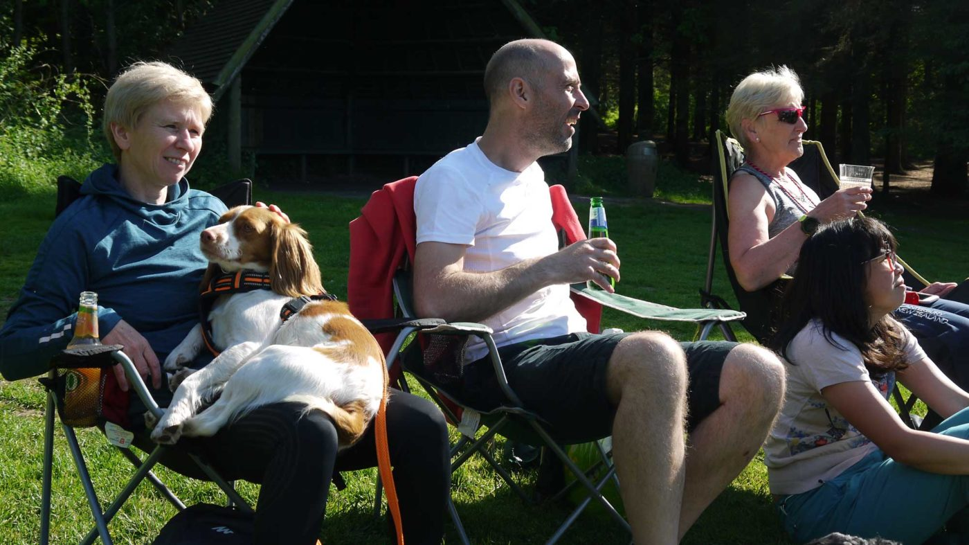 Cani-Sports Edinburgh members at barbecue