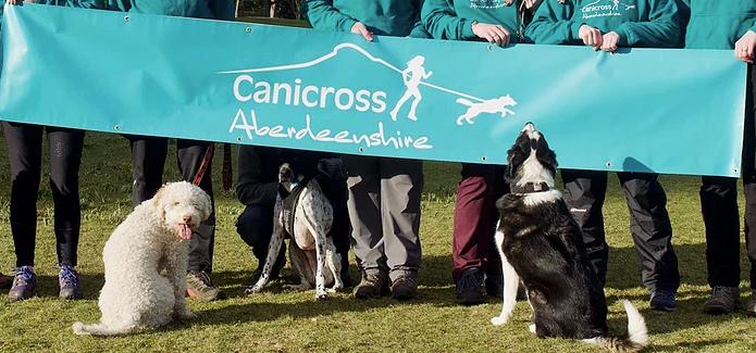Canicross Aberdeenshire Banner